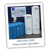 Stainless steel pressurised cylinders