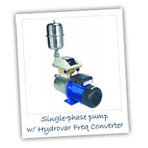 Single Phase Pump with Hydrovar Frequency Converter